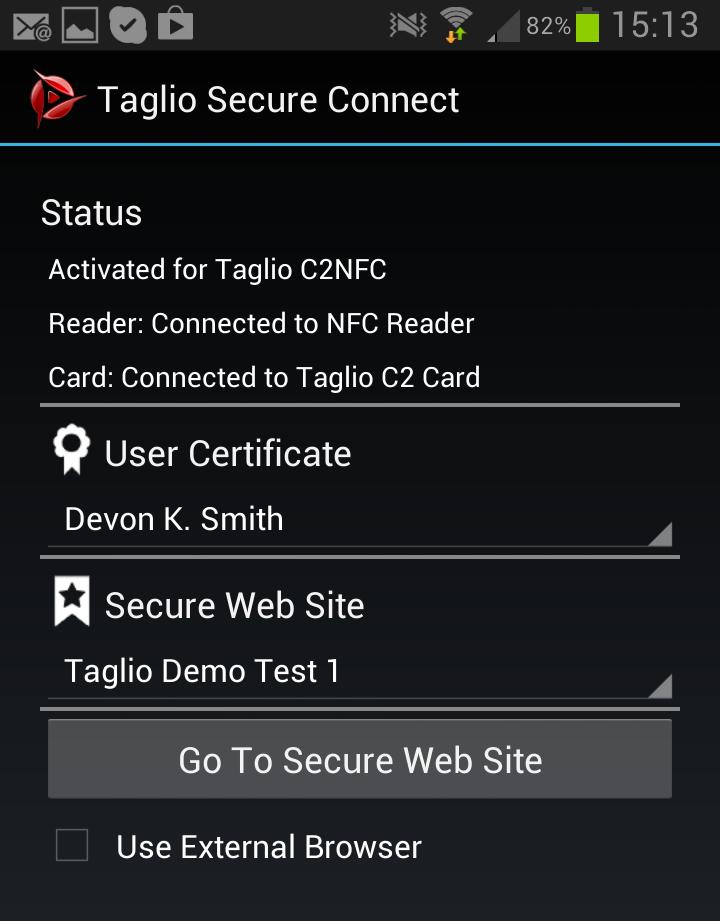 Mobile Authentication | Taglio